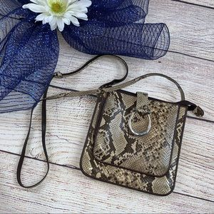 Brighton Python Snake Crossbody Purse Organizer